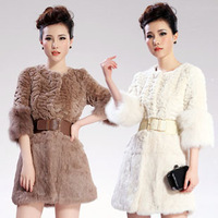 New arrival 2013 winter fur coat medium-long overcoat faux rabbit hair fur outerwear faux fox fur women's outerwear