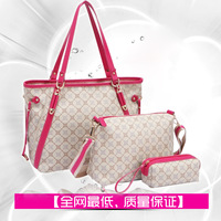 Bags 2013 fashion shoulder bag fashion female all-match mother bag genuine leather picture package piece set