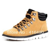Free shipping 2013 Men swing fashion shoes nubuck leather male trend of the high-top shoes casual rivet boots