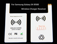 Qi Wireless charger Receiver Wireless Charging adapter for Samsung Galaxy S4 i9500 i9505 White Free shipping wholesale