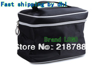 (Free shipping DHL)Wholesale 30pcs/lot Classic Style Black Make up Bags Brand NEW Makeup Case