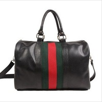 0645 New 2014  classic green red stripe bucket handbag bag vintage shoulder bag messenger bag