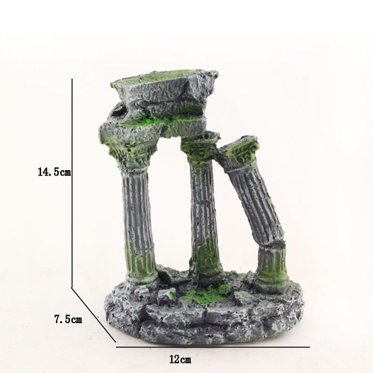 Fish tank pillar roman column aquarium resin pillar afterward(China ...