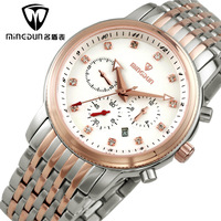 Fully-automatic mechanical watch mens watch business casual male watch vintage waterproof watch