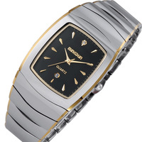 Tungsten steel watches mens watch business casual watch vintage fashion waterproof table
