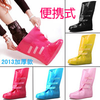 2013 New Brand female fashion PVC Crystal Clear rainboots Women waterproof rain boots Girls rain shoes covers portable Rain Set