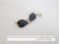 70pcs/lot fine polished stainless steel sunglasses tags, French design, foundry, the world famous brand OEM products