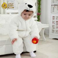 Free Shipping New White Animal Style Polar Bear Warm Baby Clothing, Children Spring Clothing, Newborn Autumn Clothing