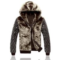 2014 Winter New Korean Men Slim Fur Gross Coat Cold Couple Paragraph Padded Jacket High Quality Warm
