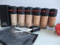 wholesale 30pcs/lot Free shipping makeup NW  liquid Foundation Studio fix fluid SPF 15 Foundation 30ML +pump