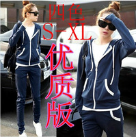 Autumn sweatshirt set female spring and autumn casual sportswear set outerwear