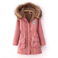 2013 New thickening cotton-padded clothes women's wear faux collars&lambs woolcotton-padded jacket coat winter coat big yards