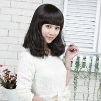 2014 Promotion Top Fashion Wavy Anime Cosplay Hair Wigs Free Shipping Female Wig Long Hair Girls Fluffy Bangs Qi Pear 1.0