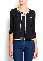 Mango hepburn OL outfit preppy style small gold buckle sweater