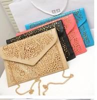 Hot Sale Women's Trend Handbag Cutout Envelope Bag Hollow Day Clutch Bag  Shoulder Bag Cross-body Bag