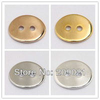 Finding 100pcs Flat Oval Button Connector Link Bead Charm 14mm X 11mm