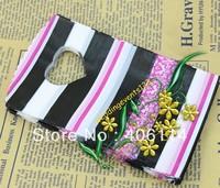 Серьги висячие 5pairs Yellow Hollow Wood Cross Charm Earrings 85mmX46mm Handmade DIY