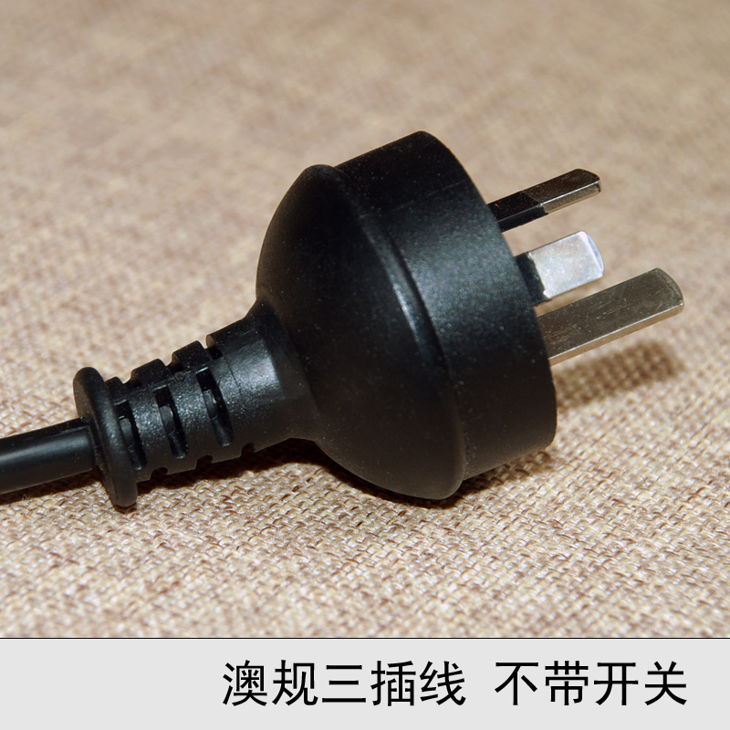Wholesale Three plug power cord electrical appliances line plug power cable 3 holes high quality lamp switch line(China (Mainland))