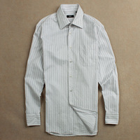 Men's clothing business casual stripe long-sleeve shirt plus size c4pok
