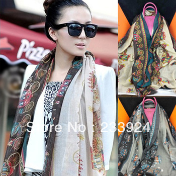 free shipping hot sales new fashion scarves famous brand women scarves vintage carriage velvet scarves shawl for lady