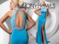 Free Shipping Sky Blue Evening Dresses New Arrival Charming Halter Sheath Design Crystal Satin Birthday Party Dresses