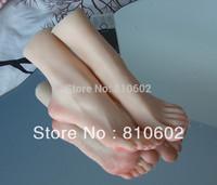 sex product solid silicone rubber feet fetish doll female Pussy Feet fake women feet foot model socks shown  #371302