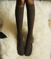 Double 6 preppy style patchwork knee-high calf patchwork stockings pantyhose stovepipe socks