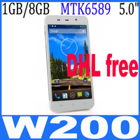 THL W200 Free Shipping MTK6589T Quad Core Phone Android 4.2 5.0'' HD Screen 1280*720 Dual Sim 1G RAM+8G ROM 8MP Dhl free ship