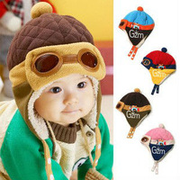 Autumn and winter plush hat baby hat children cap baby hat holding hat Lei Feng pilots