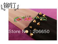 2pcs/lot 2013 New style Gold Rivet  Black Patchwork Totoro Stockings Velvet Tattoo Stockings Women Tights Pantyhose Sexy Thin