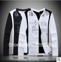 HOT!Free shipping 2013 new arrival autumn male fashion casual cotton cardigan t-shirt High quality M-3XL Size Men's clothing