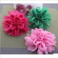 {Min.Order $15} 10pcs/Lot  8cm Flower Semi-Part/ Accessories For Hair Accessories/Garment/Caps/Jewelry/Bags/Shoes DIY