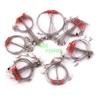 100pcs Fishing Wire Spinner Leader rolling Swivel & Interlock Snap OSSW05