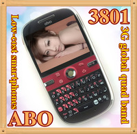 The most cheapest smart phone wholesale ABO 3801 quad band Wcdma 3g