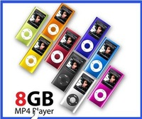 "2013 8GB Slim 2.2"" 5th LCD Cool Portable MP3 MP4 Music Player FM Radio Photo Video Recorder 9 COLORS Free Shipping"