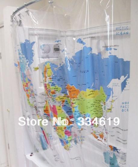 Rideau de douche carte magasin darticles promotionnels 0 sur - Rideau de douche carte du monde ...