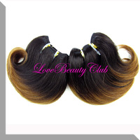 2014 new popular  ombre hair,brazilian 1B#30 ombre body wave hair,4A human body wave hair weft,2set/lot,50g/set,6inch