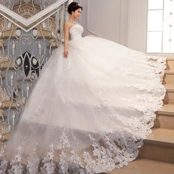 The Bride Wedding Dress Luxury Big Train 2013 Tube Top Butterfly Bandage Wedd