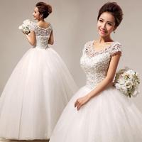 Winter wedding dress formal dress 2013 slit neckline lace sweet princess sexy wedding qi hs290
