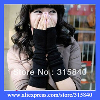 1pc New 2013 Style Autumn/ Winter Women Fingerless Mittens Knitted Women Long Gloves Winter Mittens Women - QYB04 Free Shipping