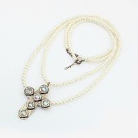 SP320 Europe tidal range of big cross pearl sweater chain