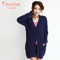 2012 winter fashion all-match solid color cardigan