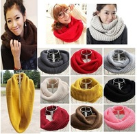 New hot! fashion style Unisex Winter knitting Wool Collar Neck Warmer woman Ring Scarf Shawl Xmas gift