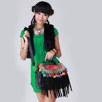National trend embroidered bag handmade bag messenger bag bales