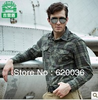 Hot-sale !2013 Autumn Men's Casual Long-sleeved Plaid Shirt Cotton Shirts,Free Shipping!