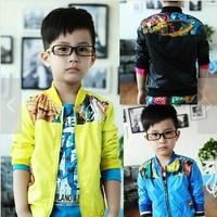 Free shipping boy's jacket new 2013 autumn-winter children outerwear jacket coat waterproof cloth kids jacket coat shipping A256