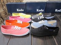 Free shipping Keds canvas shoes low vintage fashion small cotton-made shoes neon candy color women's shoes comfortable shoes