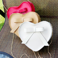 handbag candy color heart bag chain bag shoulder bag messenger bag