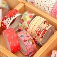 Freeshiping Hot-selling korea stationery tape small cartoon tape multicolour cartoon decoration tape 50pcs/lot