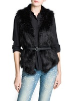 free shipping 2013 new winter women waistcoat, fur coat, luxurious Faux Fur Vest Jacket   WWC037